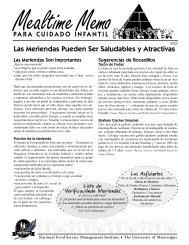Las Meriendas Pueden Ser Saludables y Atractivas - National Food ...