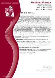 Feminist Europa. Review of Books. Vol. 9, No.1, 2009 ... - ddv Verlag
