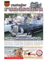 rasteder rundschau, Ausgabe August 2013