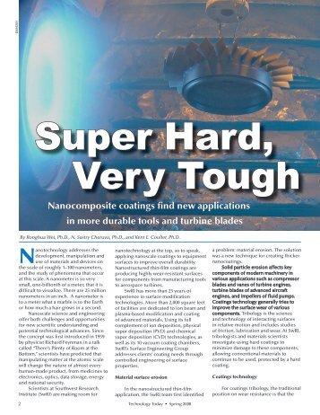TT-Super Hard, Very Hard - Southwest Research Institute