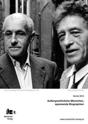 Außergewöhnliche Menschen, spannende ... - Römerhof Verlag