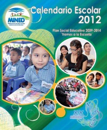 CALENDARIO 2012.indd - Ministerio de Educación de El Salvador