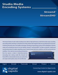 Studio Media Encoding Systems