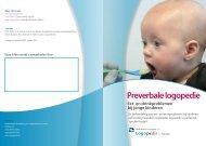 Folder Preverbale logopedie - Logopedie.nl