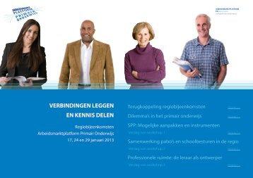 Regiobijeenkomsten Arbeidsmarktplatform Primair Onderwijs