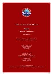 Katalog für Hersteller: Unterthurner - und Getränke-Welt Weiser