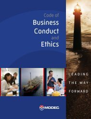 Business Conduct Ethics - modec