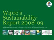 Wipro Sustainability Report 2008-09