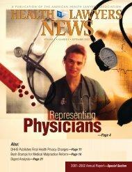 Representing Physicians - Wilentz, Goldman & Spitzer