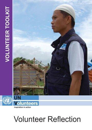 Volunteer reflection - United Nations Volunteers