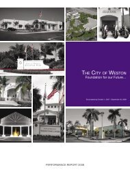 Annual Report Weston 09.indd - City of Weston