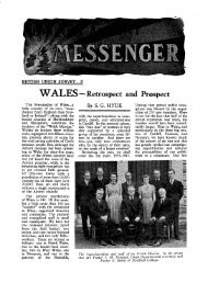 WALES - Retrospect and Prospect