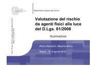 Valutazione del rischio da agenti fisici alla luce del D.Lgs. 81/2008
