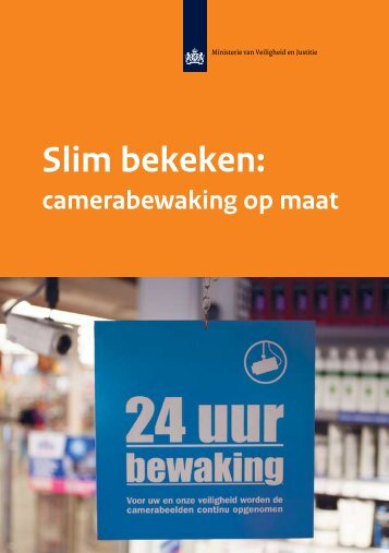 Brochure Slim Bekeken, camerabewaking op maat - Vebon