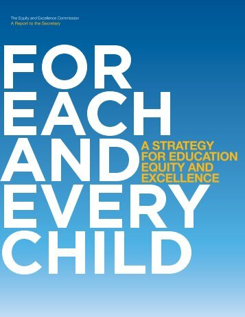 For Each and Every Child - Education Justice