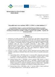 Konsolidovaná verze směrnice MŽP č. 12/2012 (dodatek č. 2)