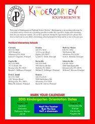 Kindergarten Registration Brochure - Parkland School District