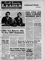 CSEA, STEIN JOIN FORCES TO UNCOVER GOVERNMENT WASTE