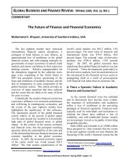 global business and finance review: spring 2009, vol 14, no 1