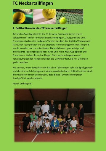 TC Neckartailfingen 1. Softballturnier des TC Neckartailfingen