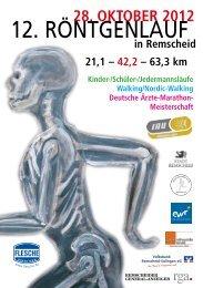 Ausschreibung 2012 - Remscheider Röntgenlauf