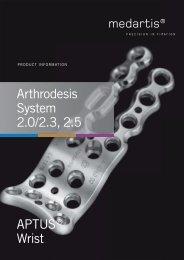 APTUS® Wrist Arthrodesis System 2.0/2.3, 2.5
