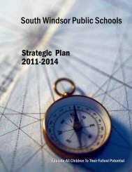 View the 2011-2014 Strategic Plan - South Windsor Public Schools