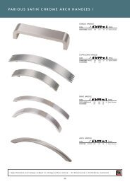 satin chrome handles various pg60-61 - Roco