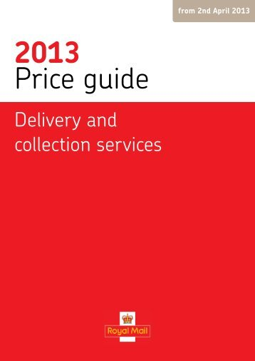 Royal Mail Price Guide 2013