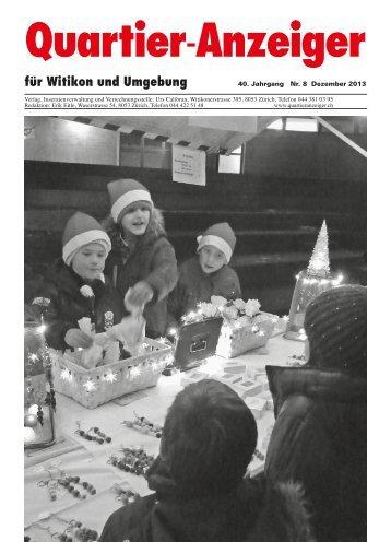 Ausgabe 8, Dezember 2013 - Quartier-Anzeiger für Witikon und ...