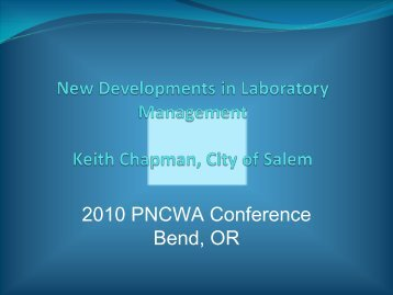 New Developments in Laboratory - pncwa