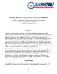 Cadmium Alternative Coating Corrosion Performance ... - Team Site