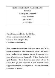 HOMMAGE DE JEAN-MARIE ABADIE Président A ... - Grand Dax
