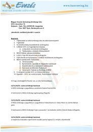 Elnökségi határozatok 2012.12.10.pdf - Magyar Evezős Szövetség