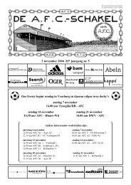 3 november 2004, 83e jaargang nummer 5 - AFC, Amsterdam