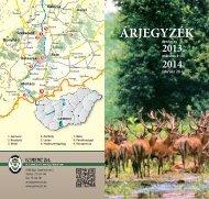 A Gemenc Zrt. vadászati árjegyzéke ITT letölthető!
