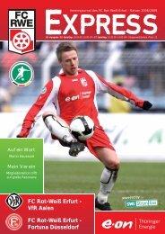 Fortuna Düsseldorf - FC Rot-Weiss Erfurt e.V.