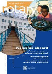 Welcome aboard - Rotary Schweiz