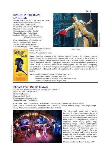 London Musicals 2012.pub - Over The Footlights
