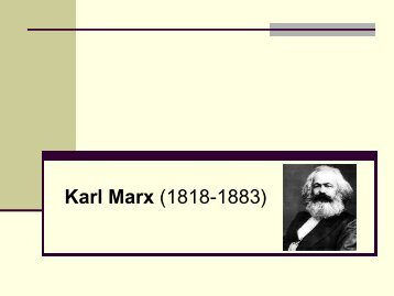 Karl Marx - Hecho Histórico