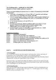 Nye betalingssatser – gjeldende fra 16.02.2009. KAP A ...