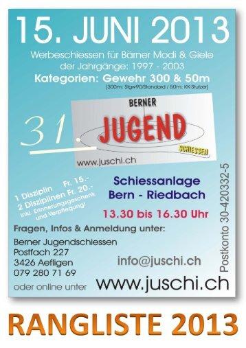 Gesamtrangliste 2013 (PDF-Dokument) - juschi.ch