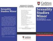 Sexuality Studies Minor - Carleton University