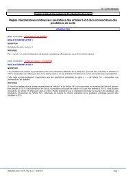 Règles interprétatives relatives aux prestations des articles 5 et 6 de ...