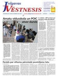 2011.gada 22.septembris Nr.37(222) - Jelgavas Vēstnesis