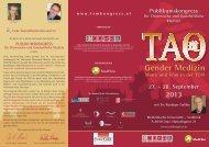 Gender Medizin - TCM Kongress