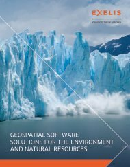 Geospatial software solutions for the environment and ... - Exelis VIS