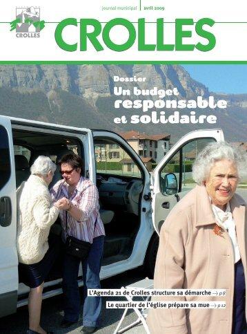 Un budget responsable et solidaire - ville de Crolles