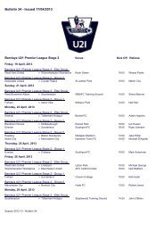Bulletin 34 - Issued 17/04/2013 - Premier League