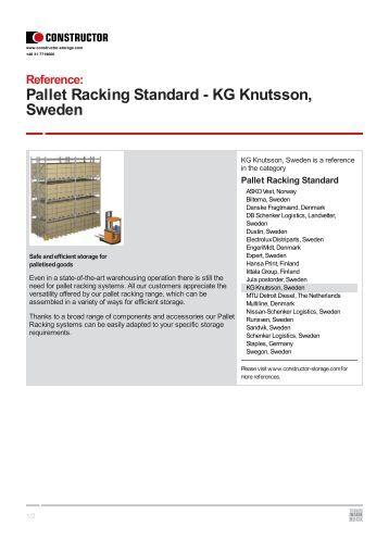 KG Knutsson, Sweden - Constructor Storage